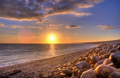 sunset at pebble beach (petervanallen) Tags: unicef unitedkingdom 070707 impressedbeauty petervanallen