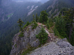 Trail up East ridge