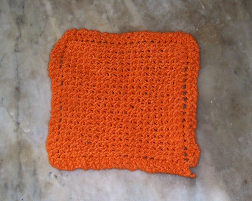 Orange Washcloth
