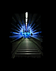 Metro à Marseille (guerriere) Tags: blue night marseille nikon bravo nightlights metro action aixenprovence mann d200 2008 nuit merde lieux stairways guerriere platinumheartaward proudshopper nskottun nightphotographies