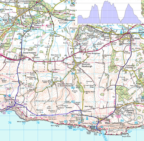 Route of Dorset Ride - August 2007