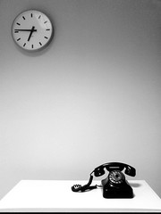Spaces between (Sameli) Tags: old bw white black clock blackwhite waiting call noir loneliness phone time space telephone minimal clean communication round wait lonely connection k800i k800 abigfave commstelephone