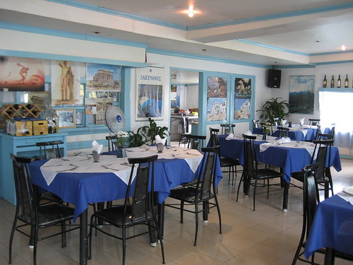 inside greek taverna
