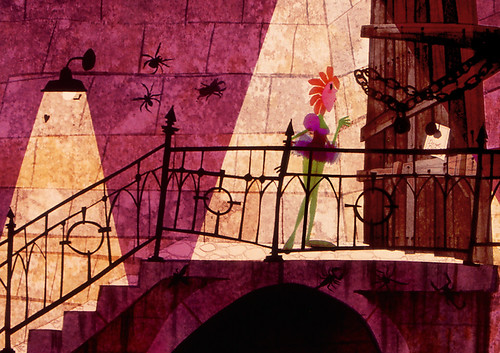 Flora at Dungeon door