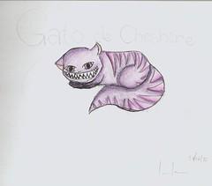 Gato de Cheshire (vitamina de banana) Tags: alice desenho pasdasmaravilhas gatodecheshire alicenopasdasmaravilhas