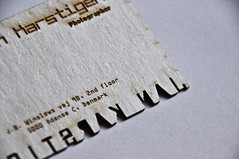 Laser Cut Business Card (dailypoetics) Tags: paper typography design graphic cut business card laser btype