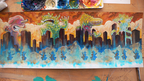 Kaiju Painting Step 10