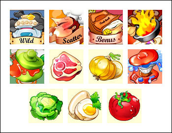 free What's Cooking slot game symbols