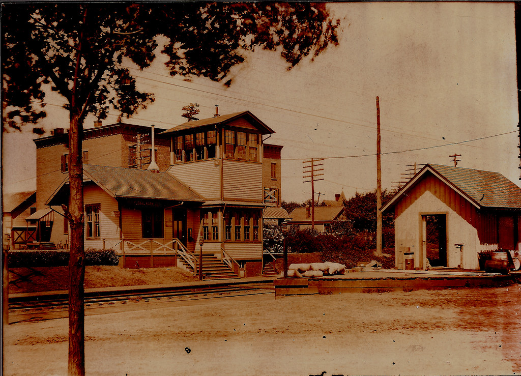 Train Station, Floral Park, Long Island, New York, about 1900