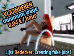Vlaanderen Second Life: a sitting job