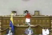 Foto tomada de las imágenes transmitidas por TV