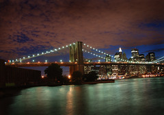 Brooklyn Bridge (Rick Elkins) Tags: newyorkcity newyork brooklyn night wow reflections lights dusk brooklynbridge eastriver soe blueribbonwinner supershot flickrsbest neverbeenthere abigfave shieldofexcellence anawesomeshot colorphotoaward amazingshots superbmasterpiece goldenphotographer ithinkthisisart diamondclassphotographer rickelkins