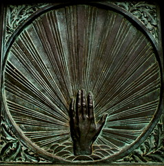 The Hand Of God (The Wandering Angel) Tags: travel newyork church poetry hand images stjohn doorway