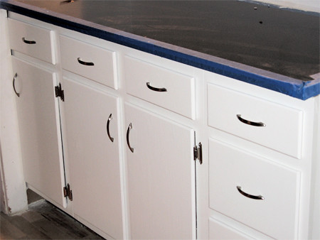 Cabinet doors with hardware