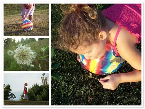 Outside playing
