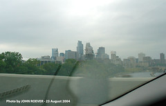 Driving on I-35W Bridge (back in 2004) (photography.by.ROEVER) Tags: bridge 2004 minnesota geotagged minneapolis collapse infrastructure mississippiriver interstate twincities skylineview i35w mndot i35wbridge beforecollapse