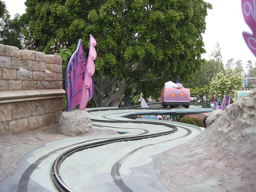 The outdoor portion of Alice in Wonderland Ride