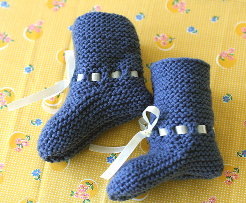 baby sung knitted bootie 4