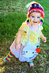 Chunky Brewster (boopsie.daisy) Tags: baby color cute colors beautiful grass hat ruffles one 1 rainbow colorful pretty sweet hellokitty small adorable sadie purse lovely chubby tutu chunky abigfave impressedbeauty