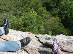 ...dangling our feet from Table Rock at the top of the mountain...