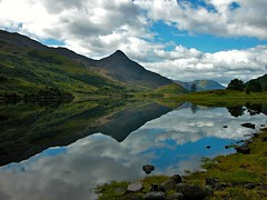 This is Scotland ***** (Nala Rewop) Tags: blue sky green clouds scotland loch refection