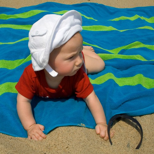 Emily's First Trip to the Beach