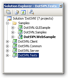 DotSVN Namespace and project structure