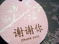 Worldly Thank-Yous...Custom Hang Tags (set of 18)
