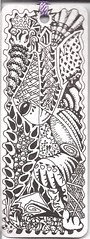 Bookmark 02-Side 2 (molossus, who says Life Imitates Doodles) Tags: bookmark zentangle zendoodle zentangleinspiredart