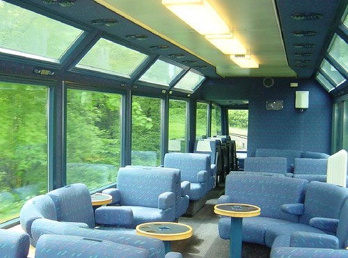Swiss Charter Train - Carriage on the Golden Pass line, Panoramic