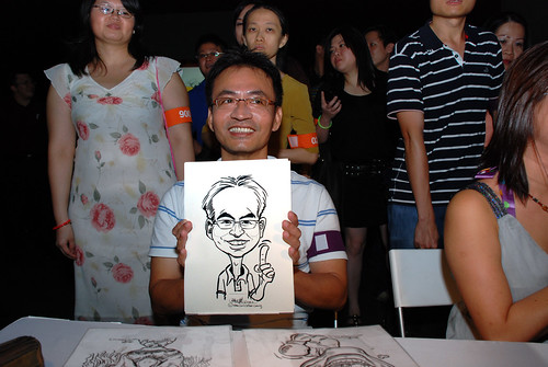 caricature live sketching for SDN First Anniversary Bash - 3