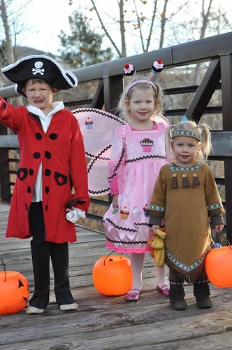 Captain Hook, Cupcake Princess, and Tiger Lily