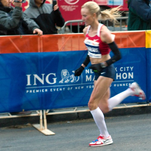 shalane flanagan of US, second