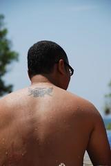 iban tatoo (rizalgeo) Tags: holiday back tatoo 18135 d80 tanjungjara ibantatoo