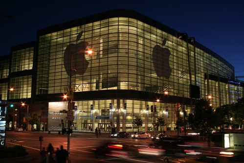 Moscone West at night