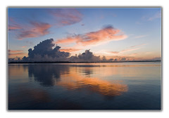 A Summers Sunrise (Max Kehrli) Tags: ocean pink sky orange clouds sunrise reflections calm bermuda colourful 6639