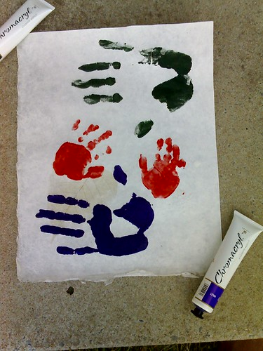 Everyone's handprints