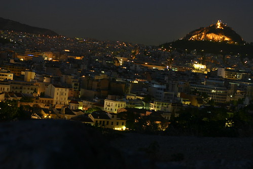 Athens at Night from Mars Hill 2