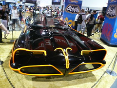 Batmobile car at Hot Wheels booth, ComicCon 2007, San Diego, CA.jpg