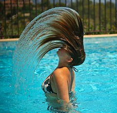 Hair and Water (Voetmann) Tags: france wet hair bravo swimsuit martine lelavandou aplusphoto voetmannfrancelelavandou