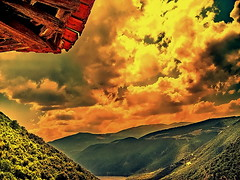 Shelter (Emilofero) Tags: wood light orange cloud mountain green yellow clouds forest river europe district central greece valley balkans shelter asylum refuge skt balcans supershot anawesomeshot aliakmonas