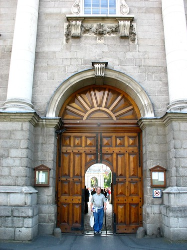 Jim in the Entrance to the Trinity College