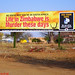 Billboard welcoming Zimbabweans to South Africa