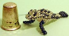 Foca de abalorios. (naiarais) Tags: animal handmade foca artesania manualidades abalorios animalito dedal hechoamano bolitas hechopornaiara