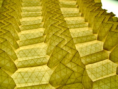 volumetric tessellation without a name (EricGjerde) Tags: design 3d origami wip structure backlit gjerde tessellation paperfolding papiroflexia zigzag nameless volumetric flickrinvaded