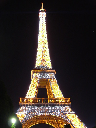 Der Eiffelturm funkelt - extra für uns