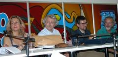 Torino Comics 2004 - Claretta Muci, allora direttrice di Topolino, Ivo Milazzo, Tito Faraci e Giorgio Cavazzano - photo (c) Goria - click to zoom in at Flickr