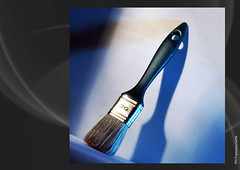 PAINT-BRUSH (Francesco Carta) Tags: stilllife paint colore azzurro paintbrush cian pennello pittura supershot pitturare paintwiththelight