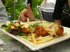 chicken parmigiana at lord roberts