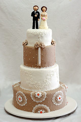 renda (Vera Figueredo(aquela_q_faz_bolos)) Tags: wedding cake groom bride marriage fuxico casamento